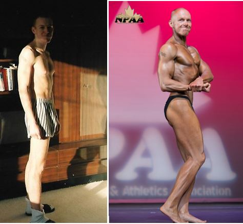 martin's body building before and after photo
